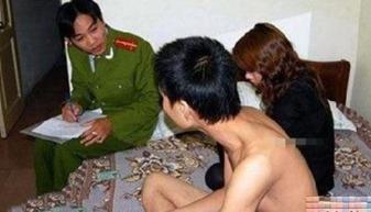 警察扫黄男女图片,泰国警察扫黄现场照片内部 4