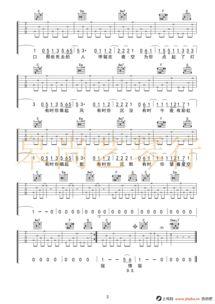 猎户星座吉他谱 C调简单版 朴树 高清弹唱谱