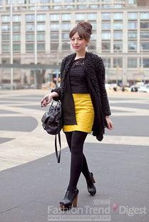 扫楼道打胶高跟鞋特写-29. 豹纹大衣搭配马蹄式长裤十分有趣.   27. 奢华的黑色皮草适合百搭...