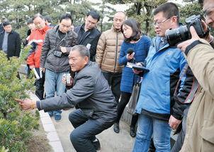 ...植户向媒体记者介绍花木种植知识.友谊摄-中央及省驻通媒体聚焦如...
