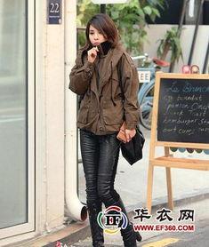 冬季流行女生皮裤搭配性感无敌