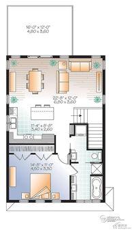 农村自建房设计图7米X10米70平米两层两大间带车库轻钢轻木结构设...