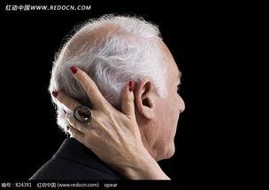 外国白发帅老头脑后抚着一只年迈女人的手图片免费下载 编号824391 ...