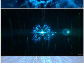 魔幻时空之门正转蓝色背景视频素材