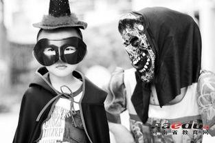 万圣节,孩子装扮恐怖造型.资料图片-儿童鬼节 国产化应适度