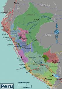 秘鲁地图 政区简图