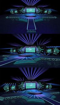 高端大气年会答谢会3DMAX模型高清效果图-3Dmax模型舞台 3Dmax...