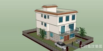农村三层房屋效果图