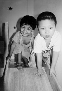 在杭州的印度小女孩甫琳娜