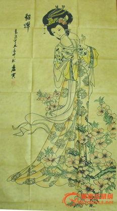 唐伯虎觅仙传-明代著名画家唐寅款貂婵图 更多精品 百度搜索 通古博物院