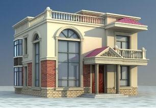100平方米新农村住宅二层小别墅设计CAD图纸及效果图,10x10米-20...