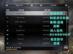 NBA 2K11 北通手柄按键设置中英文对照图文介绍