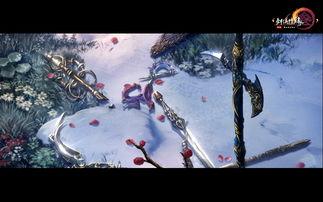 .而红花在风中飞舞飘落和雪地中武器脚印的细致交互描绘都足见制作...