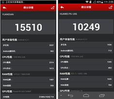 手机评测 原点手机 华为P6对比