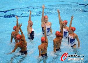 英国花游队进行训练 -英国跳水 游泳队备训奥运 花游姑娘训练认真