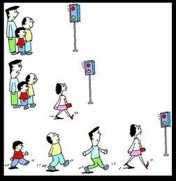 过马路,带没带小孩是不一样的
