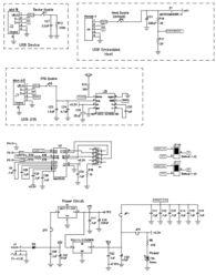 ...路图(USB和UART选择,电源)-图形控制应用MCU