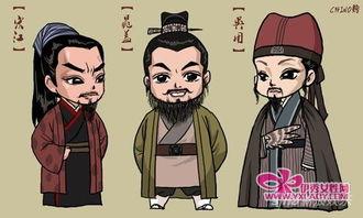 【热】动漫女生铁锁镣铐-...水浒 军师热 漫画版吴用风靡网络
