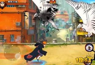 火影忍者手游佩恩天道技能演示 超高战力秒杀