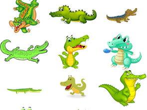 可爱小鳄鱼图片卡通素材2