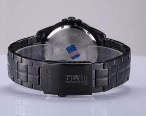 ... Casio EDIFICE系列男表石英手表 价格 报价 图片 不锈钢镀黑表带黑...