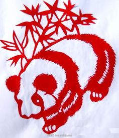 胡筱俊的剪纸熊猫