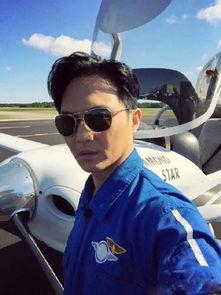 张智霖晒驾驶飞机照片 被赞 帅飞了