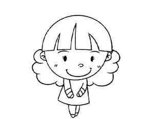 文静的小女孩,幼儿小女孩简笔画图片
