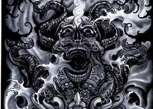 死神骷髅纹身图案大全-死神骷髅纹身图案