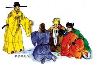 宋朝 开国 皇帝 宋太祖赵匡胤玩了一回杯酒释兵