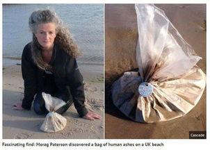 到海边游泳,在海滩上拾获一袋不明物,经过查证后发现,袋内装的竟...