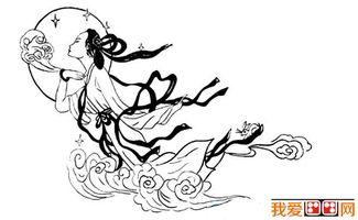 中秋节简笔画作品欣赏 2