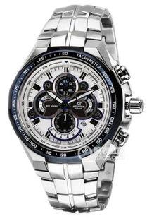 ...CasioEDIFICE系列日期显示功能银灰表盘男士金属表带手表 多少钱 ...