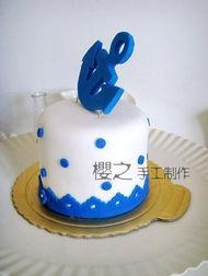 ...军 船锚 翻糖蛋糕 4寸 高级手工制作 独家定做 生日聚会婚礼