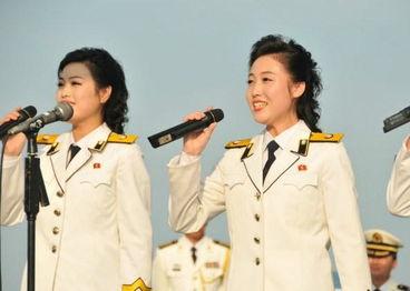 朝鲜海军文工团女兵曝光