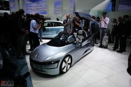 法兰克福车展实拍 大众L1概念车-百公里1.2L油 大众概念车亮相法兰克...