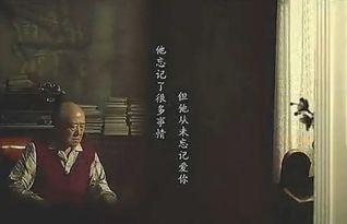 一个公益广告:爸爸得了老年痴呆... 最后广告出字:他忘记了一切,但...