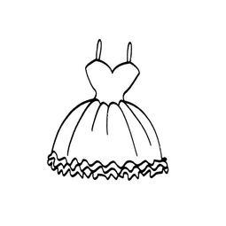 一条公主裙子的画法