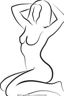 女性s曲线简笔画