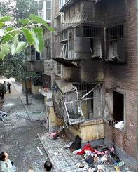 石家庄一座小区突然发生爆炸 爆炸房屋完全被毁