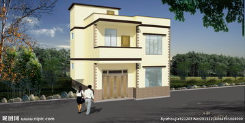 二层农村楼房效果图图片