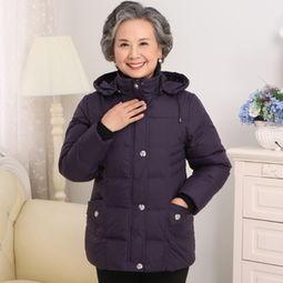 ...服女装加厚妈妈老年人冬装外套女奶奶老太太服装-时尚界的女人 时...