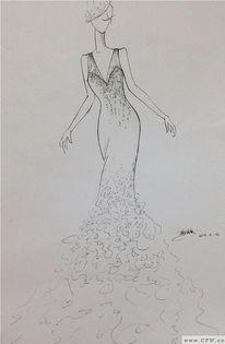 婚纱 礼服设计手稿