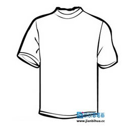 短袖t恤简笔画,服装简笔画图片大全,怎么画短袖T恤衫,儿童学画短...