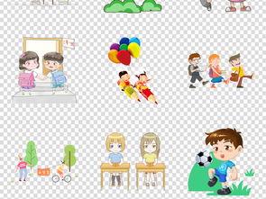 开学季卡通儿童小学生幼儿背书包上学素材图片 模板下载 46.83MB 其...