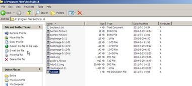 ...立一个run.bat,为了启动bochs.run.bat如图:-bochs调试linux 0.11...