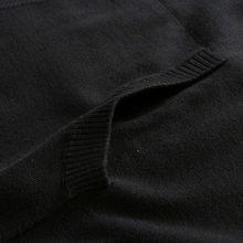 ...EEN黑 灰 紫色纯棉连帽长袖针织衫h 3111101039 黑色 48 170 92A ...