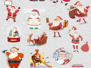 卡通圣诞老人车圣诞节圣诞帽元素png免扣素材图片 模板下载 28.27MB...