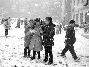 天空雪花飘 校园孩儿笑
