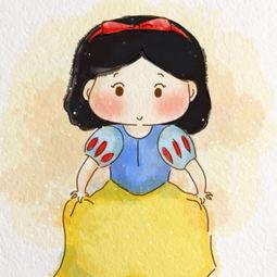 白雪公主情侣头像卡通